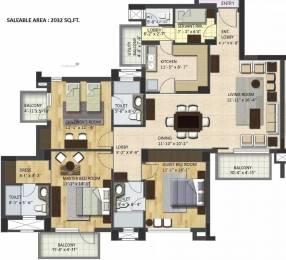 2032 sqft, 3 bhk Apartment in BPTP Park Grandeura Sector 82, Faridabad at Rs. 18000