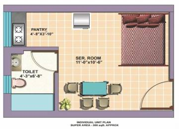 300 sqft, 1 bhk Apartment in Omaxe Service Personnel Apartments Sector 86, Faridabad at Rs. 5000