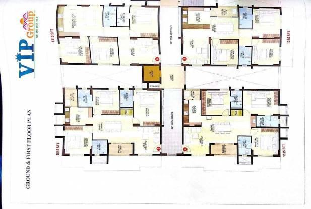 1500 sqft, 3 bhk Apartment in MVV MVV City Pothinamallayya Palem, Visakhapatnam at Rs. 58.5000 Lacs