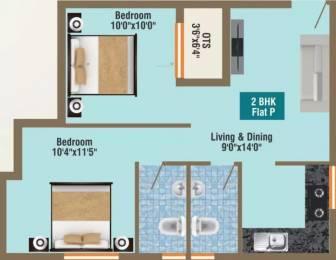 760 sqft, 2 bhk Apartment in GP Pearl Iris Ambattur, Chennai at Rs. 38.0000 Lacs