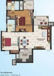 1290 sqft, 2 bhk Apartment in Hollywood Heights VIP Rd, Zirakpur at Rs. 12000
