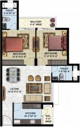 1190 sqft, 2 bhk Apartment in Omaxe Twin Tower Dad Village, Ludhiana at Rs. 50.8853 Lacs
