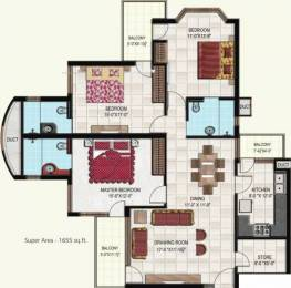1655 sqft, 3 bhk Apartment in Gillco Parkhills Sector 126 Mohali, Mohali at Rs. 78.0000 Lacs