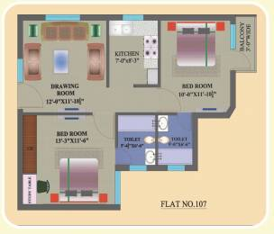 735 sqft, 2 bhk Apartment in Builder JBC Apartments Sector 80, Mohali at Rs. 21.5900 Lacs
