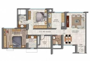 1260 sqft, 2 bhk Apartment in Sheth Auris Serenity Malad West, Mumbai at Rs. 1.7372 Cr