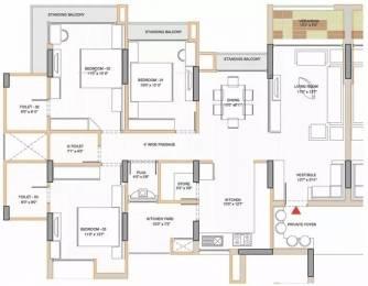 1890 sqft, 3 bhk Apartment in Shri Gautam Real Estate pvt ltd Apollo DB City Vijay Nagar, Indore at Rs. 19500