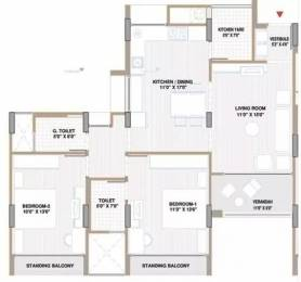 1362 sqft, 2 bhk Apartment in Shri Gautam Real Estate pvt ltd Apollo DB City Vijay Nagar, Indore at Rs. 14000