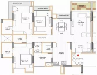 1890 sqft, 3 bhk Apartment in Shri Gautam Real Estate pvt ltd Apollo DB City Vijay Nagar, Indore at Rs. 22000