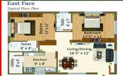 889 sqft, 2 bhk Apartment in Builder Project Gollapudi, Vijayawada at Rs. 16.0000 Lacs