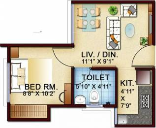 336 sqft, 1 bhk Apartment in Town Garden City Vedapatti, Coimbatore at Rs. 11.9900 Lacs