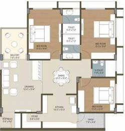 1900 sqft, 3 bhk Apartment in Deep Heliconia Thaltej, Ahmedabad at Rs. 82.0000 Lacs