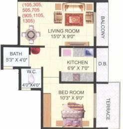 650 sqft, 1 bhk Apartment in Yug Shree Shankar Heights Kamothe, Mumbai at Rs. 50.0000 Lacs