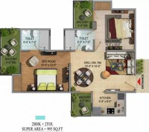 995 sqft, 2 bhk Apartment in Migsun Green Mansion UPSIDC Surajpur Site, Greater Noida at Rs. 8500