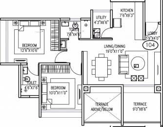 982 sqft, 2 bhk Apartment in Goel Ganga Acropolis Sus, Pune at Rs. 79.5693 Lacs