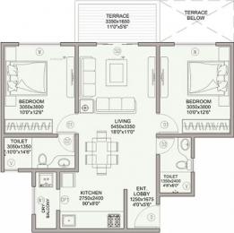 998 sqft, 2 bhk Apartment in Samrat Green Republic Wagholi, Pune at Rs. 42.0000 Lacs