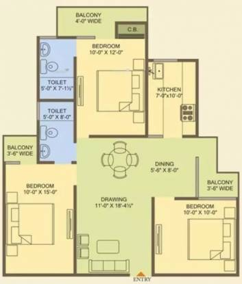 1405 sqft, 3 bhk Apartment in MR Officer City 2 Raj Nagar Extension, Ghaziabad at Rs. 42.0000 Lacs