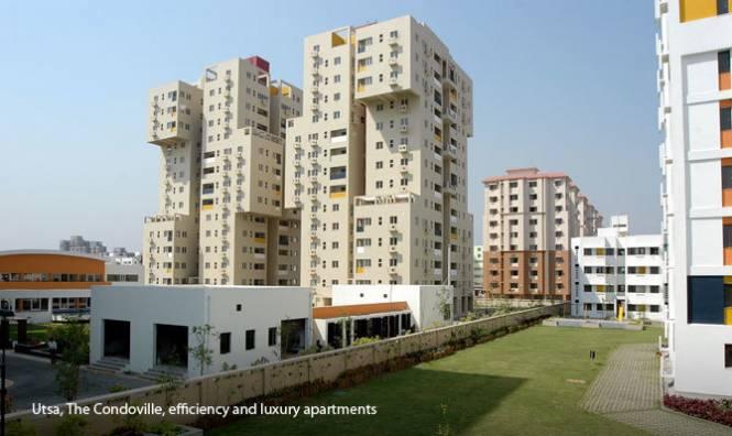 1107 sqft, 2 bhk Apartment in Ambuja Utsa The Condoville New Town, Kolkata at Rs. 20000