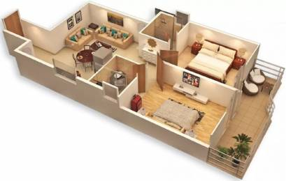 777 sqft, 2 bhk Apartment in Pyramid Urban 67A Sector 67, Gurgaon at Rs. 26.0000 Lacs