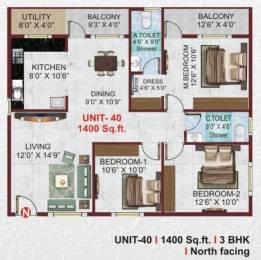1400 sqft, 3 bhk Apartment in Builder sri nandana royale Electronic City Phase 2, Bangalore at Rs. 45.0000 Lacs