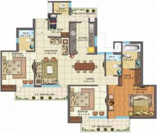 1914 sqft, 3 bhk Apartment in Nimbus The Golden Palms Sector 168, Noida at Rs. 88.0440 Lacs