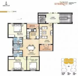 1461 sqft, 3 bhk Apartment in Kgeyes Eternity Besant Nagar, Chennai at Rs. 2.2000 Cr