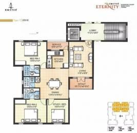 1461 sqft, 3 bhk Apartment in Kgeyes Eternity Besant Nagar, Chennai at Rs. 1.9000 Cr