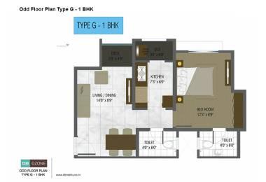 479 sqft, 1 bhk Apartment in DB Ozone Dahisar, Mumbai at Rs. 46.0000 Lacs