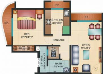 780 sqft, 1 bhk Apartment in Kapleshwara Pinnacle Gloria Thane West, Mumbai at Rs. 60.4800 Lacs