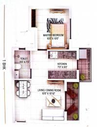 615 sqft, 1 bhk Apartment in Builder wallfort elegant Pachpedi Naka, Raipur at Rs. 20.5100 Lacs