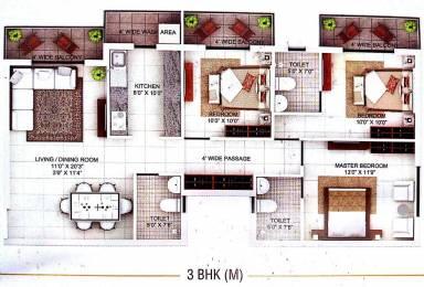 1430 sqft, 3 bhk Apartment in Builder wallfort elegant Pachpedi Naka, Raipur at Rs. 46.5100 Lacs