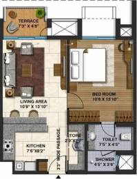 702 sqft, 1 bhk Apartment in Lodha Belmondo Gahunje, Pune at Rs. 16000
