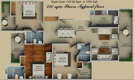 1700 sqft, 3 bhk Apartment in Supertech Hill Crest Sector 2 Sohna, Gurgaon at Rs. 74.8000 Lacs