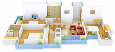 1550 sqft, 3 bhk Apartment in Gardenia Glamour Sector 4 Vasundhara, Ghaziabad at Rs. 66.0000 Lacs