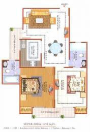 1250 sqft, 2 bhk Apartment in Gardenia Greens Sector 18 Vasundhara, Ghaziabad at Rs. 65.0000 Lacs