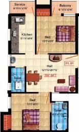 707 sqft, 2 bhk Apartment in StepsStone Raghava Vandalur, Chennai at Rs. 24.5000 Lacs