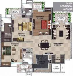 1852 sqft, 3 bhk Apartment in  Maya Garden City Nagla, Zirakpur at Rs. 13500