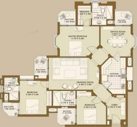 1800 sqft, 3 bhk Apartment in ATS Golf Meadows Prelude Ashiana Colony, Dera Bassi at Rs. 17000