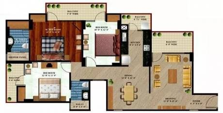 1655 sqft, 3 bhk Apartment in Prateek The Royal Cliff Crossing Republik, Ghaziabad at Rs. 51.0000 Lacs