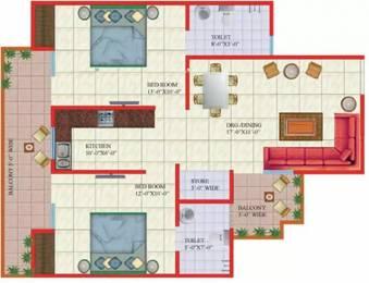 1050 sqft, 2 bhk Apartment in Gaursons Gaur Global Village Crossing Republik, Ghaziabad at Rs. 32.7500 Lacs