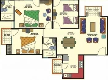 1330 sqft, 3 bhk Apartment in Amrapali Empire Crossing Republik, Ghaziabad at Rs. 35.0000 Lacs