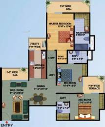 1750 sqft, 3 bhk Apartment in Ajnara Gen X Crossing Republik, Ghaziabad at Rs. 49.0000 Lacs