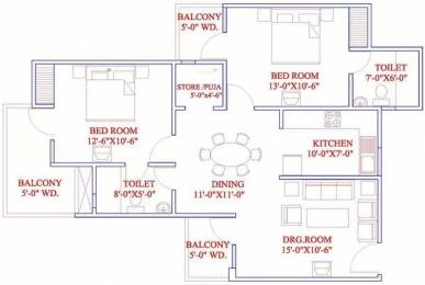 1225 sqft, 2 bhk Apartment in Dreamland The Willows Crossing Republik, Ghaziabad at Rs. 32.2100 Lacs