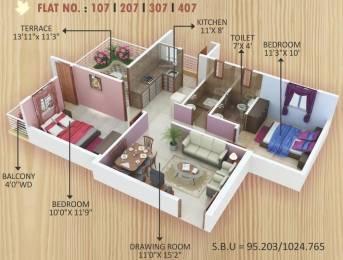 1024 sqft, 2 bhk Apartment in Shanti Maple Enclave Digdoh, Nagpur at Rs. 25.0000 Lacs