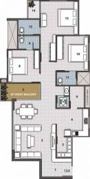 2100 sqft, 3 bhk Apartment in Yashasvi Siddhi Ellipse Althan, Surat at Rs. 15000
