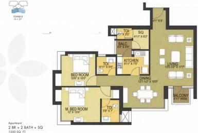 1300 sqft, 2 bhk Apartment in Pioneer Pioneer Park PH 1 Sector 61, Gurgaon at Rs. 32000