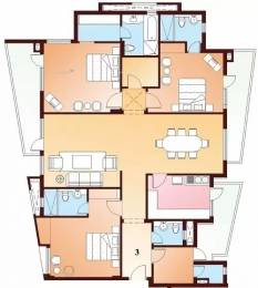2645 sqft, 3 bhk Apartment in Parsvnath Exotica Sector 53, Gurgaon at Rs. 80000