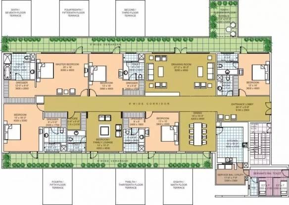 6425 sqft, 5 bhk Apartment in Salcon The Verandas Sector 54, Gurgaon at Rs. 8.2500 Cr
