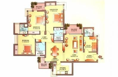 2061 sqft, 3 bhk Apartment in Orchid Petals Sector 49, Gurgaon at Rs. 38000