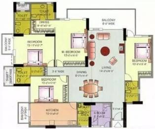 2750 sqft, 4 bhk Apartment in DLF The Icon Sector 43, Gurgaon at Rs. 70000