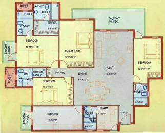 2700 sqft, 4 bhk Apartment in DLF Westend Heights Sector 53, Gurgaon at Rs. 70000